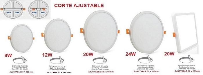 Downlight-panel-ajustable-gama