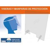 Viseras y Mamparas de Protección