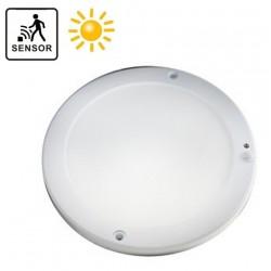 Plafón LED superficie Redondo 18W IP65 con sensor de movimiento y crepuscular
