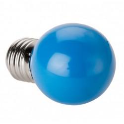 Lámpara LED Esferica E27 2W Azul
