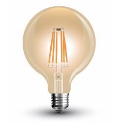 Lámpara LED Globo 125mm Gold E27 4W Filamento 2700ºK