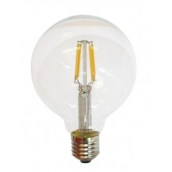 Lámpara LED Globo 125mm Clara E27 8W Filamento 6000ºK
