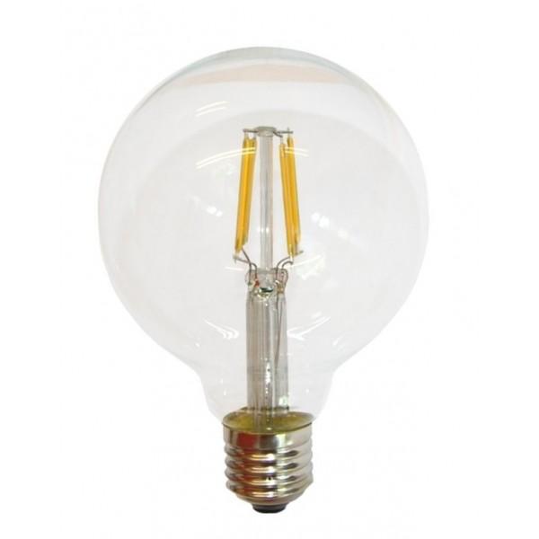Lámpara LED Globo 125mm Clara E27 2W Filamento 2700ºK