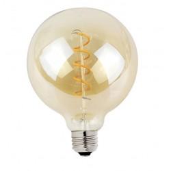 Lámpara LED Globo 125mm Gold E27 4W Filamento Espiral 2700ºK