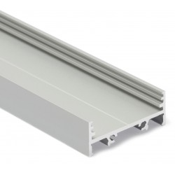 Perfil Aluminio Anodizado Superficie 33,4x12,8mm. para tiras LED, barra de 3 Metros