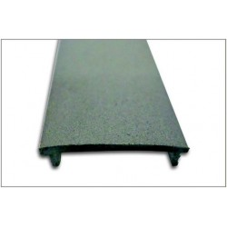 Difusor Tapa Ciega Gris para perfil aluminio anodizado Certificado, DC5, tira 2 mts.