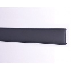 Difusor Negro para perfil aluminio anodizado Certificado, DN5, tira 2 mts.