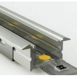 Perfil empotrar aluminio anodizado 24x12mm para tiras LED, barra 2 Metros