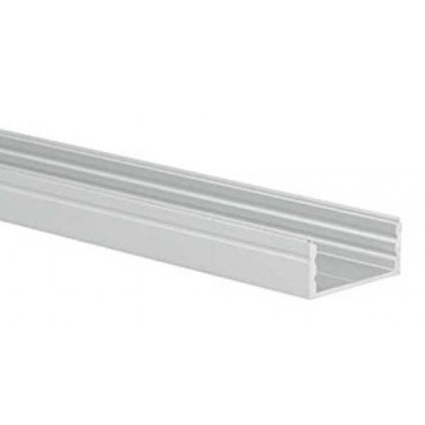 Perfil Aluminio Superficie 23,5x10mm. para tiras LED, barra 3 metros