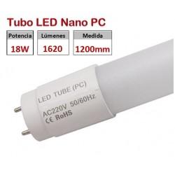 Tubo LED T8 1200mm Nano PC 18W, conexión 1 lado