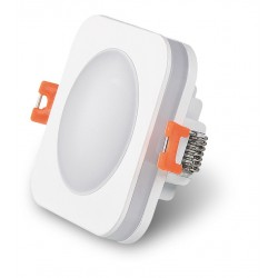 Foco Downlight empotrar LED cuadrado 6W IP44