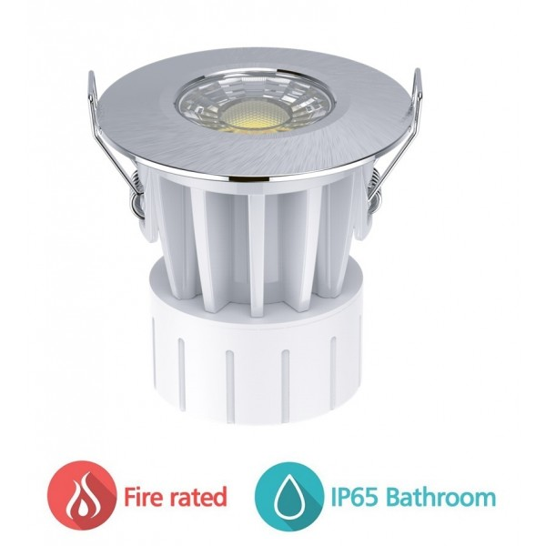 Foco Downlight empotrar LED redondo 8W CCT Anti Fuego IP65