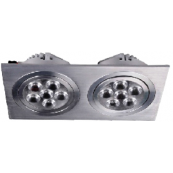Foco doble Downlight Square empotrar LED 2x18W Blanco Frío