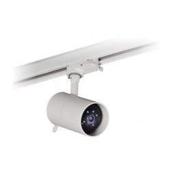 Foco Cámara de seguridad IP HD720P H.264 con ranura SD con conector Carril Trifásico