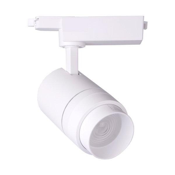 Foco Carril Monofásico LED COB 30W con ángulo Regulable