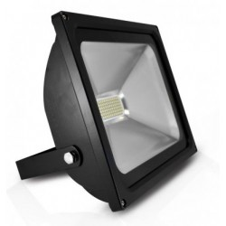 Foco LED exterior BASIC 50W SMD IP-65 Negro