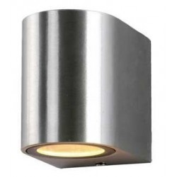 Aplique LED exterior IP44 superficie pared R 1xGU10 Aluminio Pulido