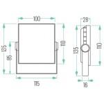 Foco LED exterior SLIM PLANO 10W IP65 SMD