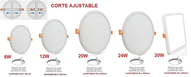 Downlight-panel-ajustable-gama
