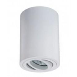 Foco superficie redondo φ85*110mm orientable Blanco para Lámpara GU10/MR16