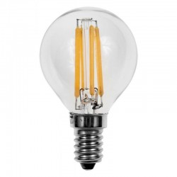 Lámpara LED Esferica Clara E14 2W Filamento
