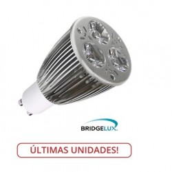 Lámpara LED GU10 9W Blanco Cálido, Bridgelux