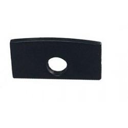 Tapa Final salida Cable para perfil anodizado Negro PS1607A, PS1607AN, PE2108A, PE2108AN