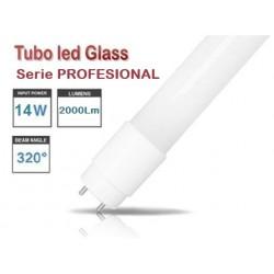 Tubo LED T8 900mm PRO Cristal 14W, conexión 1 lado
